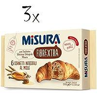 3x Misura Fibraextra Cornetti integrali Kuchen mit Honig Vollkorn brioche 300