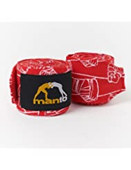 Manto Pattern mano wraps vendajes Cajas, Kickboxing y Muay Thai MMA Negro, rojo
