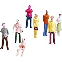 Generic 100pcs Painted Model Train People Figures Scale TT (1 to 100)