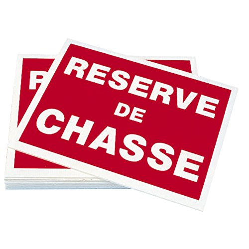 Plaques en Akylux Réserve de Chasse (Lot de 10)