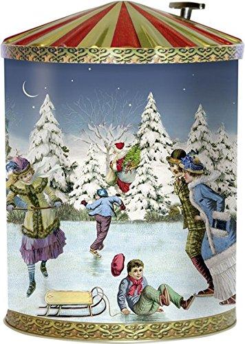 Nostalgische Weihnachtsdose mit Spieluhr: Mit 24 Backrezepten (Adventskalender);Adventskalender