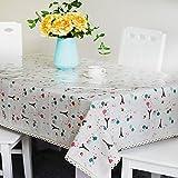 DSAAA Sencillez moderna mantel de PVC transparente de vidrio y suaves sábanas de tela de tapa mesa,gris 80*140cm