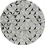 Morbuy Tapis Rond Lavable en Machine Style Simple La géométrie Interieur Anti Slip...
