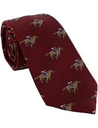 Jockey on Race Horse Silk Tie
