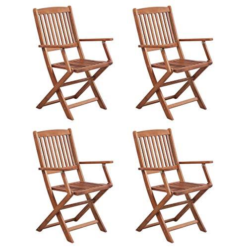 Festnight Garten-Essgruppe 5-TLG. | Holz Sitzgruppe | Gartengarnitur Sitzgarnitur | Gartenset Essgruppe | Terrassenmöbel Gartenmöbel | Gartenmöbelset | Braun Massivholz Akazie