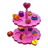 Lucy Locket Luxury Kids Wooden Cakes Stand and Shape Sorter Toy (11 Cakes)