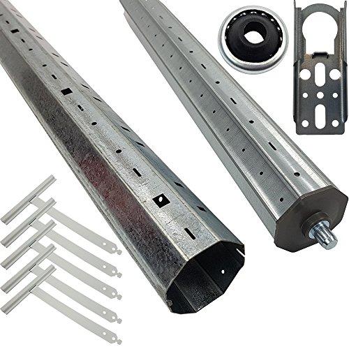 fensterladen alt PROHEIM Rolladenmotor Rollladenwellen-Paket SW60 für Rohrmotoren für Alt- und Neubau Stahlwelle Teleskopwelle und Montagezubehör geeignet für Rollläden, Länge:bis 150 cm