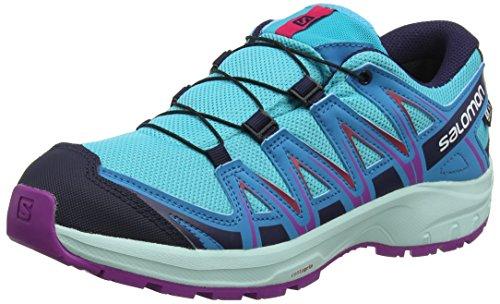 Salomon L40647500, Scarpe da Trail Running Unisex Bambini XA Pro 3D CSWP J, Sintetico/Tessile, Blu (Bluebird/Fjord Blue/Purple Cactus Flower), Misura: 36