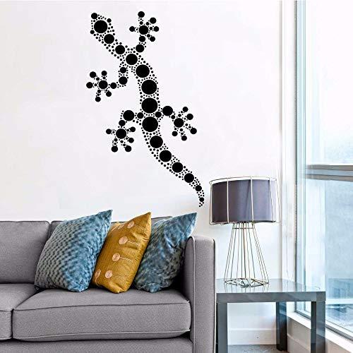 WWYJN Vinyl Wall Applique Decorative Wall Stickers Animal Body Wall Art Poster Detachable Wall Painting Gray 34x57cm -