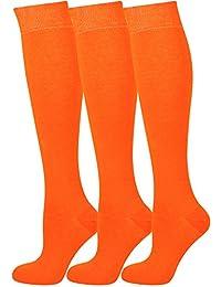 Mysocks® 3 Pairs Calcetines altos unisex hasta la rodilla con algodón peinado extrafino