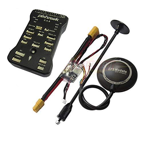Rcmodelpart Pixhawk PX4 32Bit Flight Controller + NEO-M8N GPS + Power  Module +Shock Absorber for Multirotor FPV