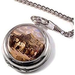 The Quarry (Horses at work) by Herring Full Hunter Pocket Watch