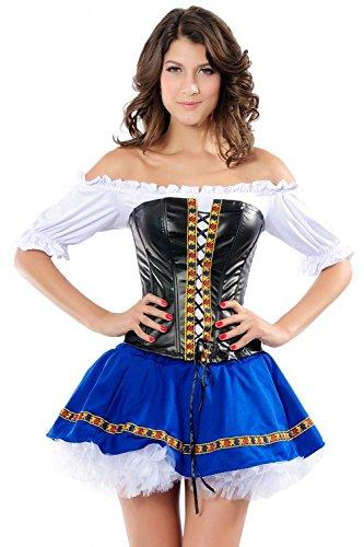 Honeystore Damen's Bier Maiden Kind Kostüm Mehrfarbig L