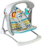 Fisher Price Colourful Carnival Take Along Swing and Seat, Multi Color at amazon