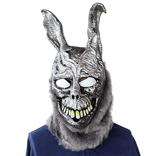 Kostüm Kopf Kaninchen Scary - Halloween Maske Gruselige Latex Wütendes Böses Silbernes Kaninchen Cosplay Scary Erschreckende Maske Horror Adult Kostüm Zubehör