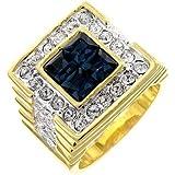 ISADY - Constantin - Men's Ring - Cubic Zirconia Blue