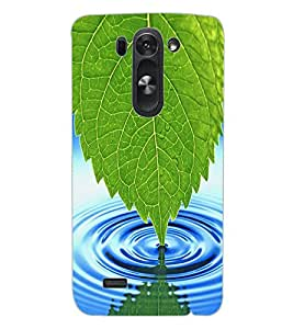 ColourCraft Leaf and Water Design Back Case Cover for LG G3 BEAT