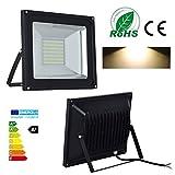 2x 100W - LED Flutlicht Fluter Strahler Außenstrahler Außenbeleuchtung Innenbeleuchtung Warmweiß , wasserdicht IP65 SMD 220V