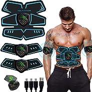 Electroestimulador Muscular, Abdominales Cinturón, Estimulador Muscular Abdominales, Masajeador Eléctrico Cint