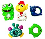 #4: Blossom Baby Teethers Rattle Toy (Set of 5 Pcs) with Various Exciting Rattle Toys for New Borns,Toddlers & Infants, Multi Color