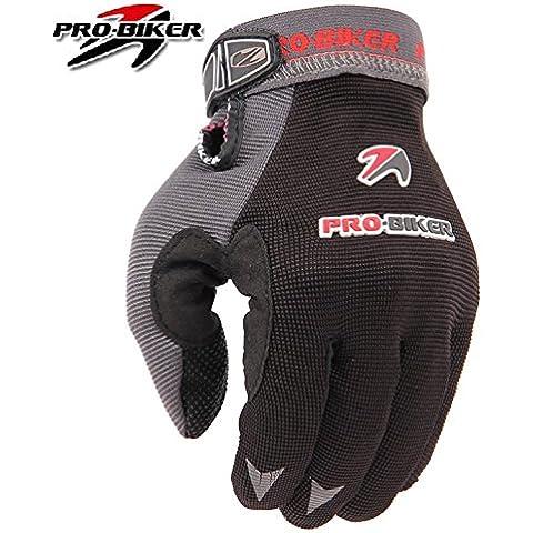 Pro-bici Byary™ 2016 transpirable motocicleta bicicleta guantes Ciclismo automovilismo guantes negro MTV-02