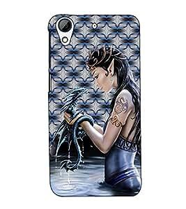 Fuson Designer Back Case Cover for HTC Desire 626G :: HTC Desire 626 Dual SIM :: HTC Desire 626S :: HTC Desire 626 USA :: HTC Desire 626G+ :: HTC Desire 626G Plus (A lady with an animal theme)
