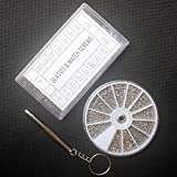 ASOSMOS Edelstahl Schrauben Mutter Set mit Schraubendreher für Uhr Brillen,1000Pcs