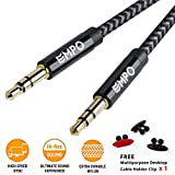 AUX Cable 3.3ft/1.0M EMPO® 3.5mm Nylon Braided Audio Cable, Copper Shell Aux Cord