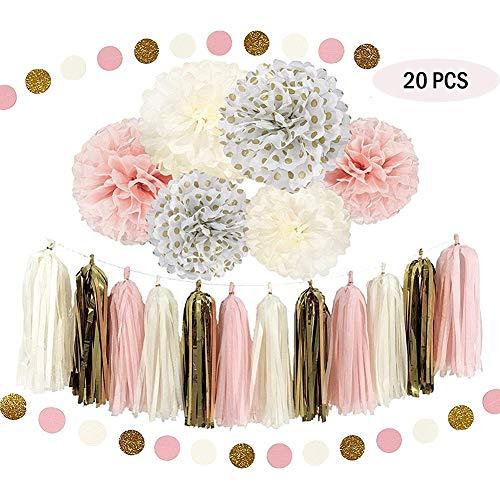 er Pom-Poms, Blume Ball Hochzeitsplanung Outdoor-Dekoration Premium Tissue Paper Pom poms Flowers Craft Kit ()