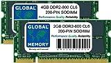 6GB (4GB + 2GB) DDR2 800MHz PC2-6400 200-PIN SODIMM ARBEITSSPEICHER KIT FÜR INTEL IMAC EARLY 2008 20