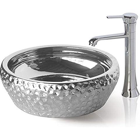 Il vetro temprato Vasca Lavello e rubinetto