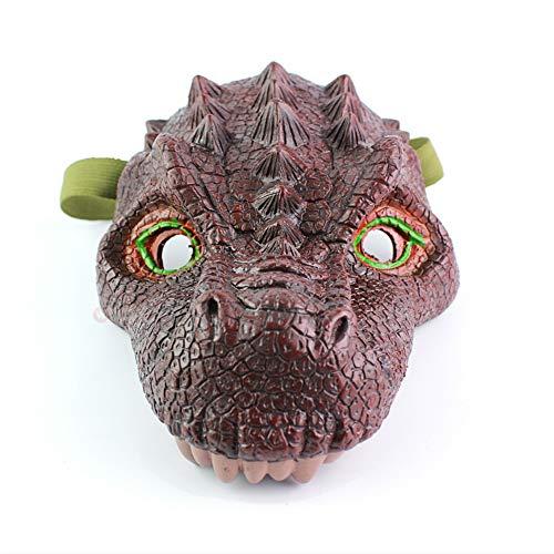 World Jurassic Kostüm Dinosaurier - Mayzo Jurassic World Dinosaurier-Maske, Figuren Simulationsmaske, Latex-Dinosaurier-Masken für Kostüm, Halloweenmaske