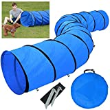 Yahee Hundetunnel Spieltunnel Training Tunnel Agilitytunnel 546 x 60 cm blau