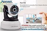 Sricam Italia SP017 Camera Wireless Onvif, Allarme, MicroSD fino a 128 GB, No DDNS