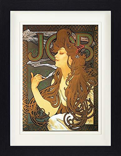 Mucha-job (1art1 113667 Alphonse Mucha - Job, 1896 Gerahmtes Poster Für Fans Und Sammler 40 x 30 cm)