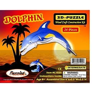 perplexe c1025 dolphin lumineux 3d puzzle jeux. Black Bedroom Furniture Sets. Home Design Ideas