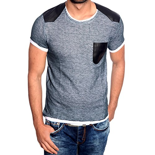 T-Shirt Poloshirt Shirt für Herren Männer Jungs Jungen A16663RN Avroni Petrol
