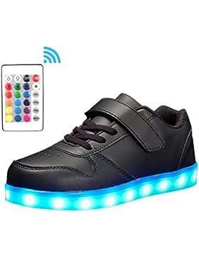 [Gesponsert]Voovix Unisex-Kinder Licht Schuhe mit Fernbedienung Led Leuchtende Blinkende Low-top Sneaker USB Aufladen Shoes...