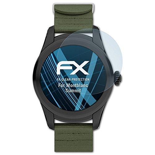 atFoliX Schutzfolie kompatibel mit Montblanc Summit Folie, ultraklare FX Bildschirmschutzfolie (3X)
