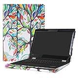 Alapmk Diseñado Especialmente La Funda Protectora de Cuero de PU para 13.3' Lenovo ThinkPad L380 Yoga/L390 Yoga/ThinkPad L380 L390 & Lenovo ThinkPad 13 Chromebook/ThinkPad 13 Laptop,Love Tree