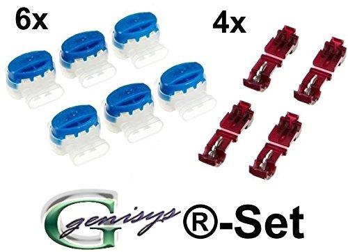 6 Kabel Verbinder + 4 Anschlussklemmen für Gardena Mähroboter (Original von 3M)