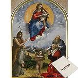 B&N Bien,Virgin Mary Of Poligno - Sancio Raffaello - 500 Piece Jigsaw Puzzle [Pouch Included]