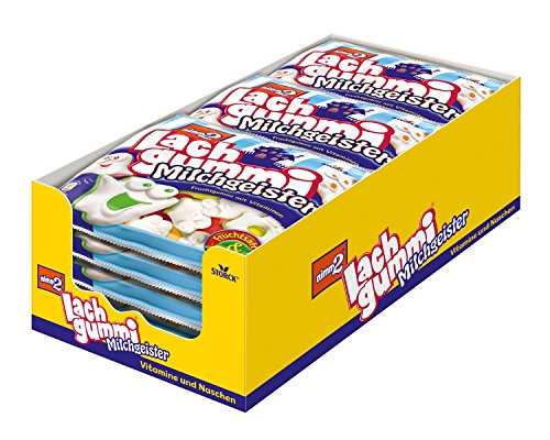Hydrolysierte Gelatine (nimm2 Lachgummi Milchgeister – Spaßiges Fruchtgummi mit Vitaminen – 15er Pack (15 x 225g))