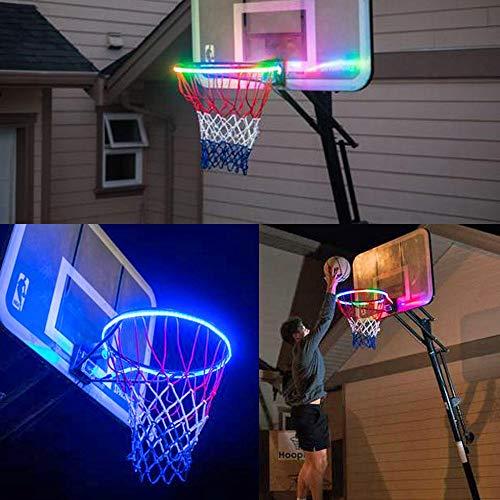 TAOtTAO Basketballlicht mit Hilfslichtstreifen des Lichtkorbes Die LED-Basketball-Felgenbefestigung mit Hoop Light LED hilft Ihnen, bei Nacht Reifen zu schießen - Reifen Nacht