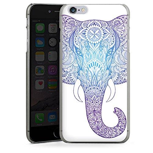 Apple iPhone 4s Hülle Case Handyhülle Elefant Mandala Ornamente Hard Case anthrazit-klar