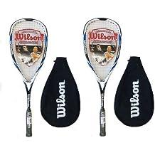 Wilson Hyper Hammer Carbon 120 - Raquetas de squash (2 unidades), color azul