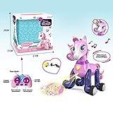 Niulyled Fernbedienung Einhorn - elektrische Smart Pony, Sound und Licht + Touch Induktion elektronische Pony Puzzle Spielzeug Projektionsspielzeug, Projektionsbild Funktion.