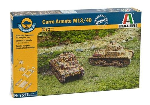 Italeri 7517 - carro armato m-13/40 - fast assembly (2 pcs) model kit  scala 1:72