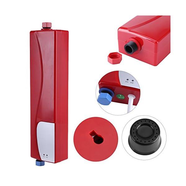 Fdit Socialme-EU Mini Calentador de Agua Instantáneo Eléctrico sin Tanque con Válvula de Alivio de Presión 220V 3000W…