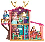 Enchantimals Supercasa del bosque y muñeca Danessa, casa de muñecas (Mattel FRH50)